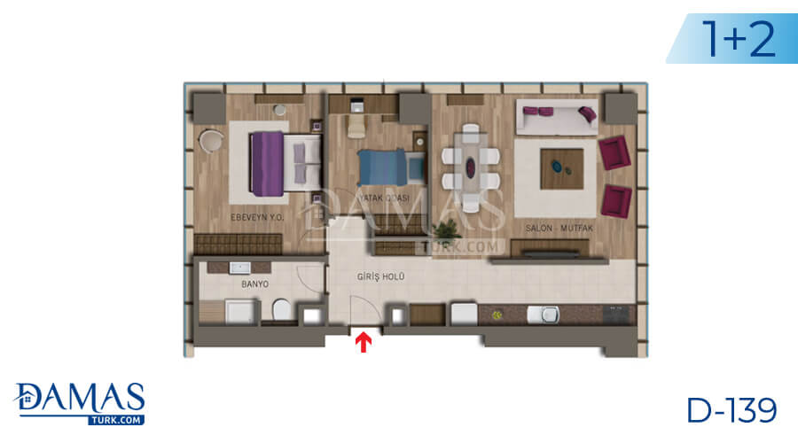 Damas Project D-138 in Istanbul - Floor plan picture 03