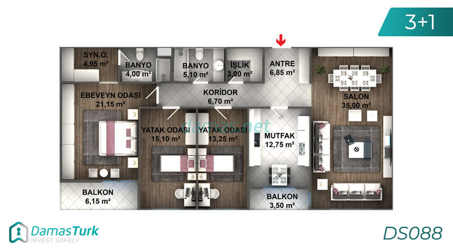 Istanbul Property - Turkey Real Estate - DS088 || damas.net 03
