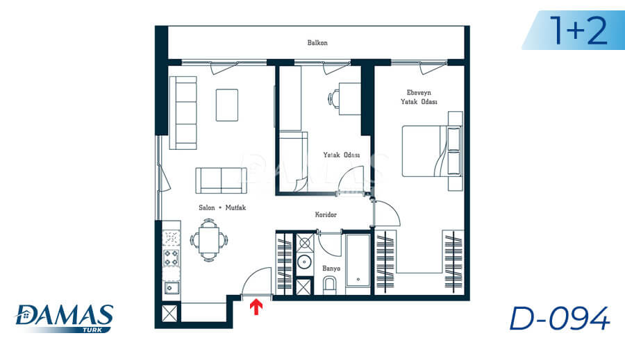 Damas Project D-094 in Istanbul - Floor Plan picture 02