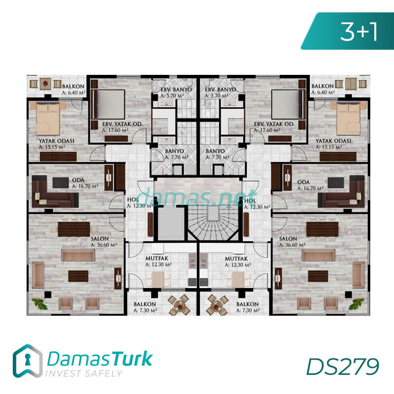 Apartments complex investment is ready to live freely with views of Istanbul European büyükçekmece area DS279 || damas.net 02