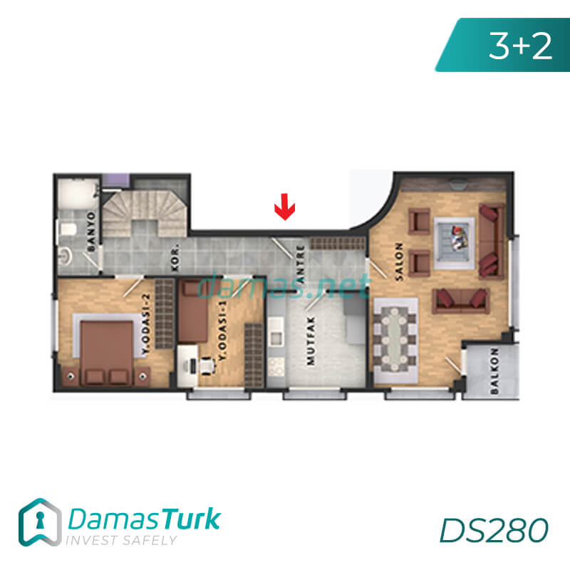 Apartments complex investment is ready to live freely with views of Istanbul European büyükçekmece area DS280    damas.net 03