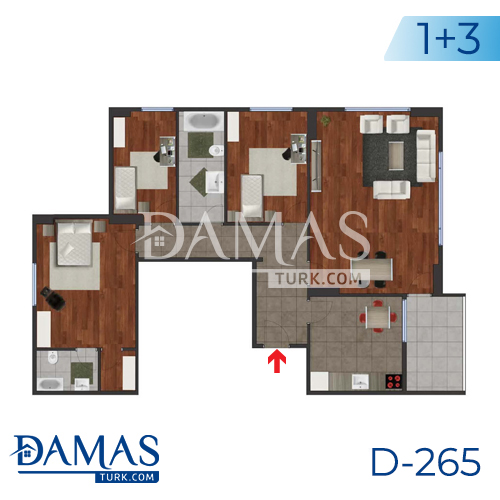 Damas Project D-265 in Istanbul - Floor plan picture 03