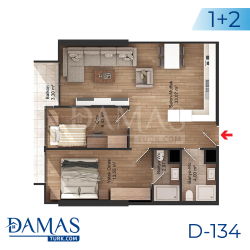 Damas Project D-134 in Istanbul - Floor plan picture 03