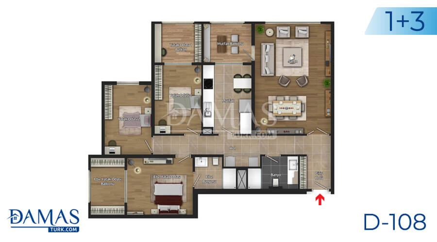 Damas Project D-108 in Istanbul - Floor plan picture 03