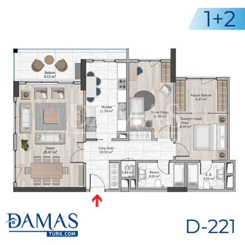 Damas Project D-221 in Istanbul - Floor plan picture  03