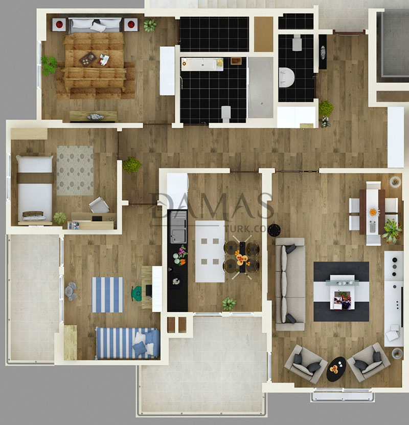 Damas 404 Project in Trabzon - Floor Plan 03