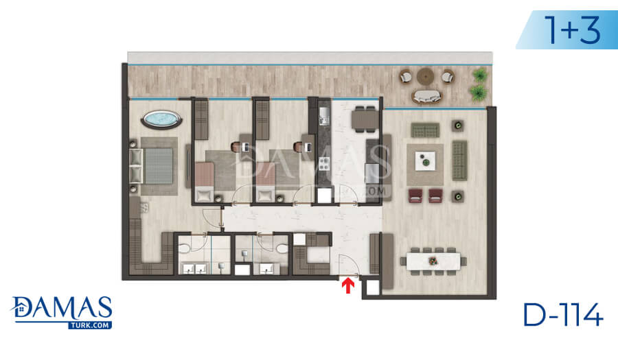 Damas Project D-114 in Istanbul - Floor plan picture 03