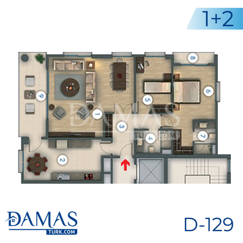 Damas Project D-129 in Istanbul - Floor plan picture 03