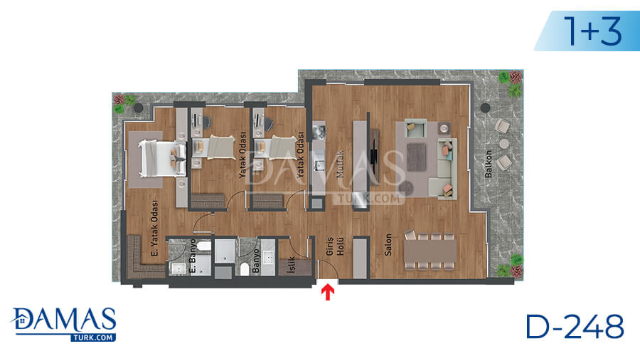 Damas Project D-248 in Istanbul - Floor plan picture 03