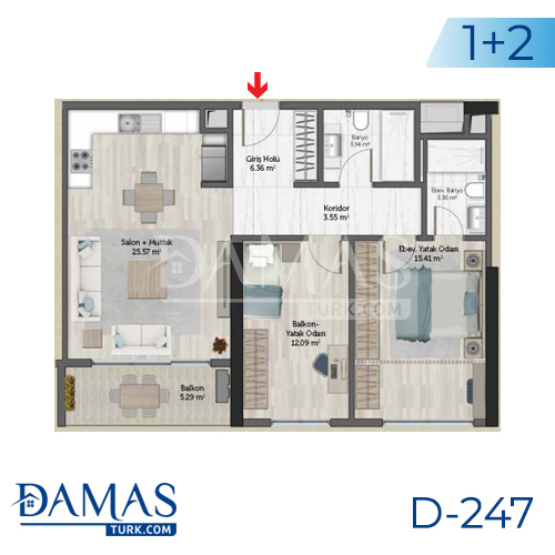 Damas Project D-247 in Istanbul - Floor plan picture 03