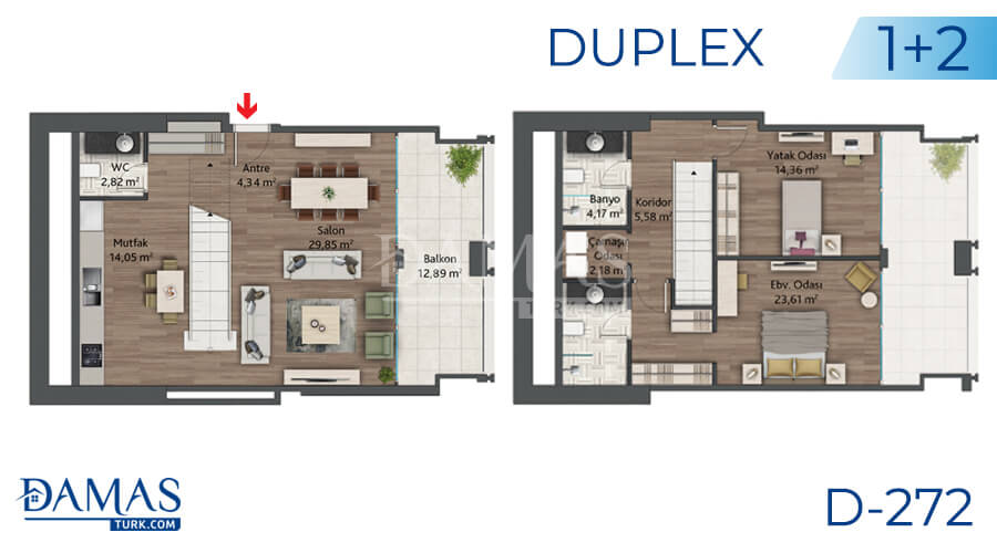 Damas Project D-272 in Istanbul - Floor plan picture 03