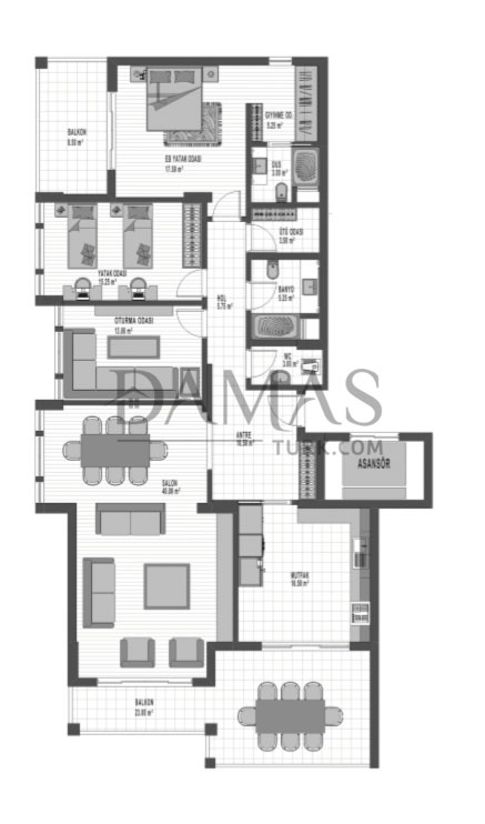 Damas 202 Project in bursa - Floor plan 03