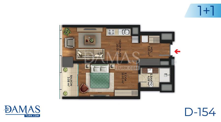 Damas Project D-154 in Istanbul - Floor plan picture 03