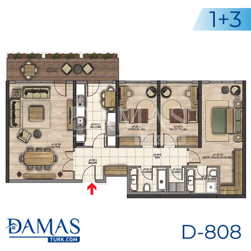 Damas Project D-808 in Istanbul - Floor plan picture 03