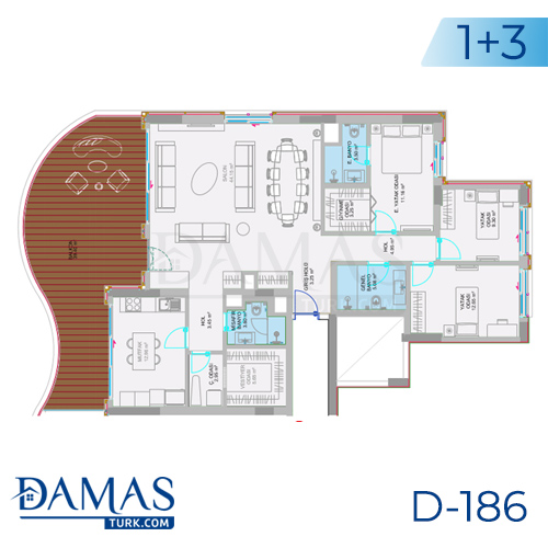 Damas Project D-186 in Istanbul - Floor plan picture  03