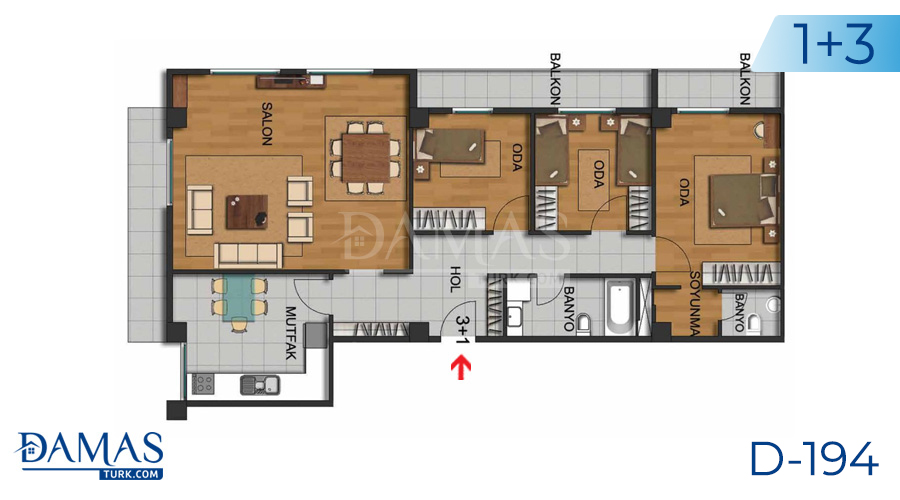 Damas Project D-194 in Istanbul - Floor plan picture  03