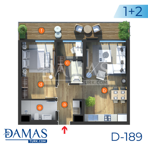 Damas Project D-189 in Istanbul - Floor plan picture  03