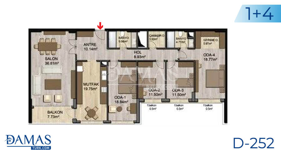 Damas Project D-252 in Istanbul - Floor plan picture 03