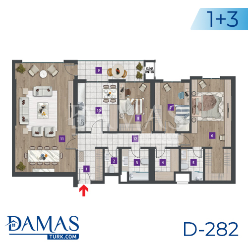 Damas Project D-282 in Istanbul - Floor plan picture 03