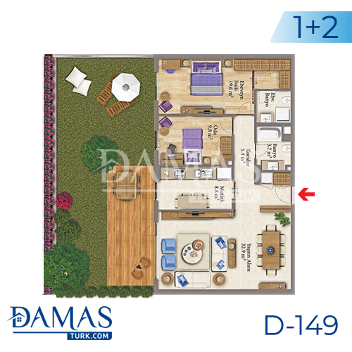 Damas Project D-149 in Istanbul - Floor plan picture 03