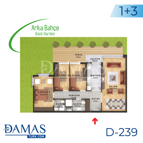 Damas Project D-239 in Istanbul - Floor plan picture  03