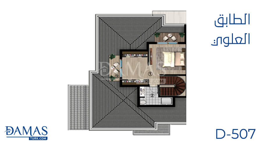 Damas Project D-507 in kocaeli - Floor plan picture 03