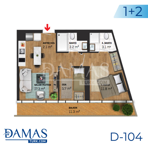 Damas Project D-104 in Istanbul - Floor plan picture 03