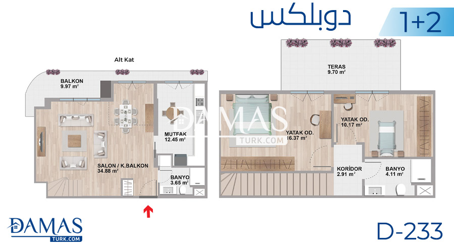 Damas Project D-233 in Istanbul - Floor plan picture  03