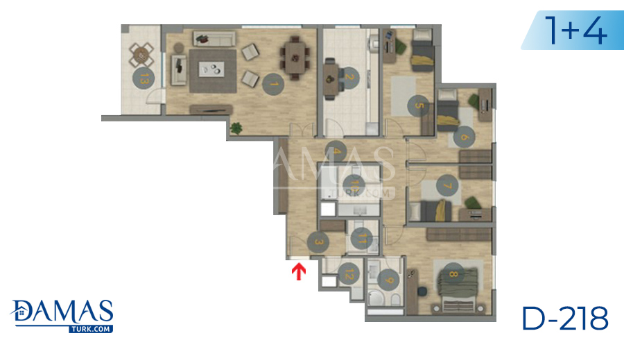 Damas Project D-218 in Istanbul - Floor plan picture  03