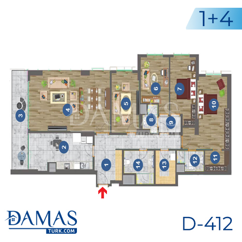 Damas Project D-412 in Trabzon - Floor plan picture 03