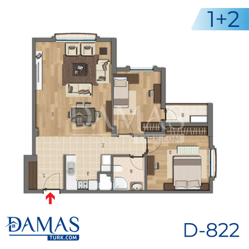 Damas Project D-822 in Istanbul - Floor plan picture 03