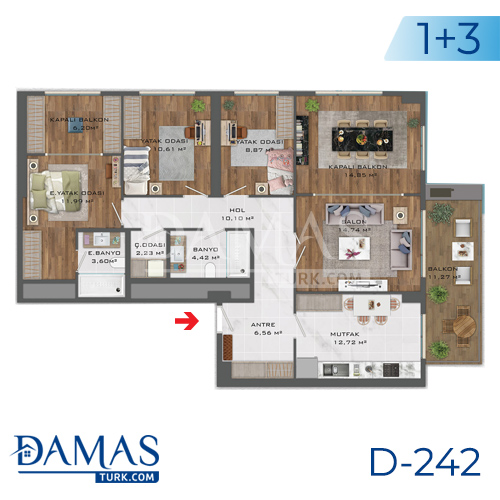 Damas Project D-242 in Istanbul - Floor plan picture  03