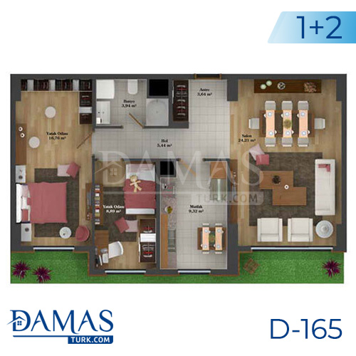 Damas Project D-165 in Istanbul - Floor plan picture  03