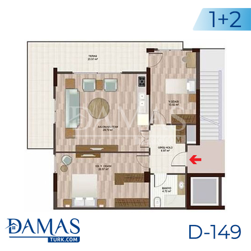 Damas Project D-148 in Istanbul - Floor plan picture 03