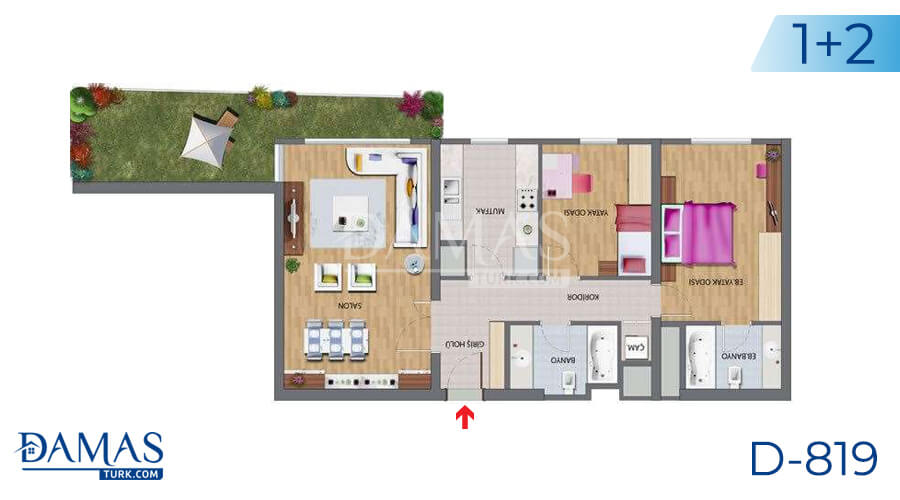 Damas Project D-819 in Istanbul - Floor plan picture 03
