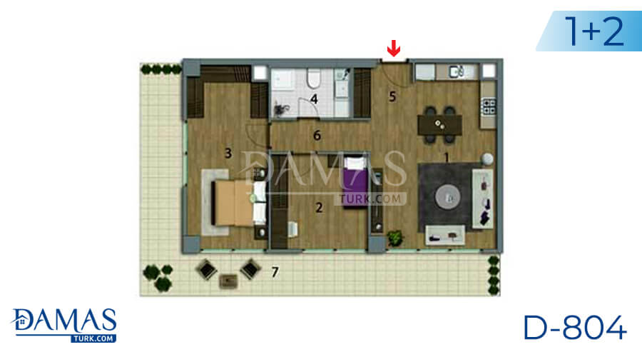 Damas Project D-804 in Istanbul - Floor plan picture 03