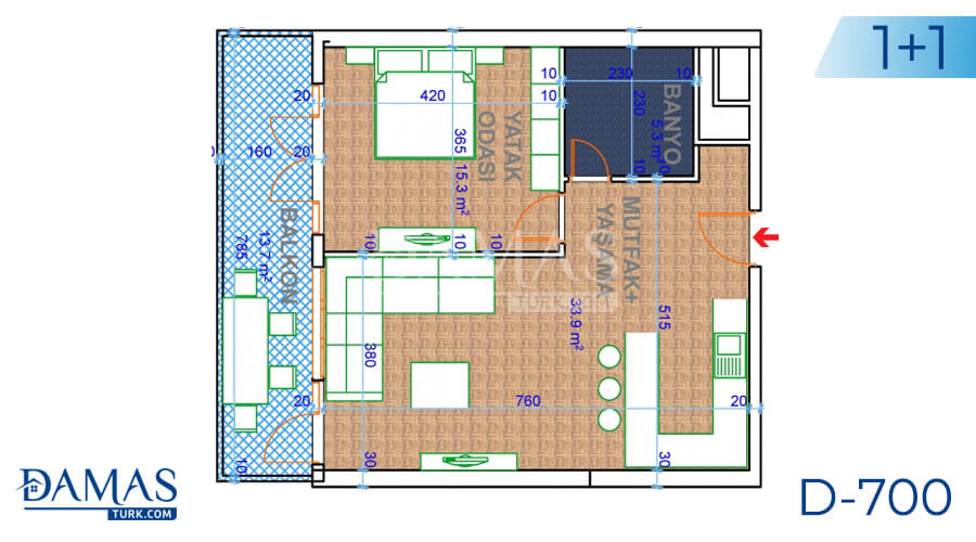 Damas Project D-700 in Ankara - Floor plan picture 03