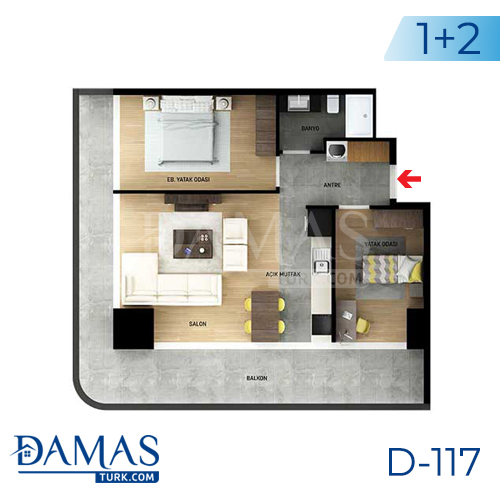 Damas Project D-117 in Istanbul - Floor plan picture 03
