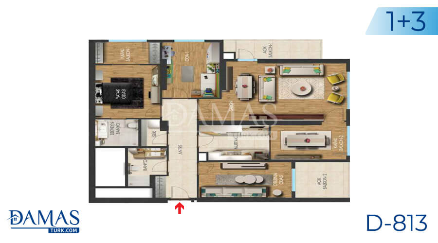 Damas Project D-813 in Istanbul - Floor plan picture 03