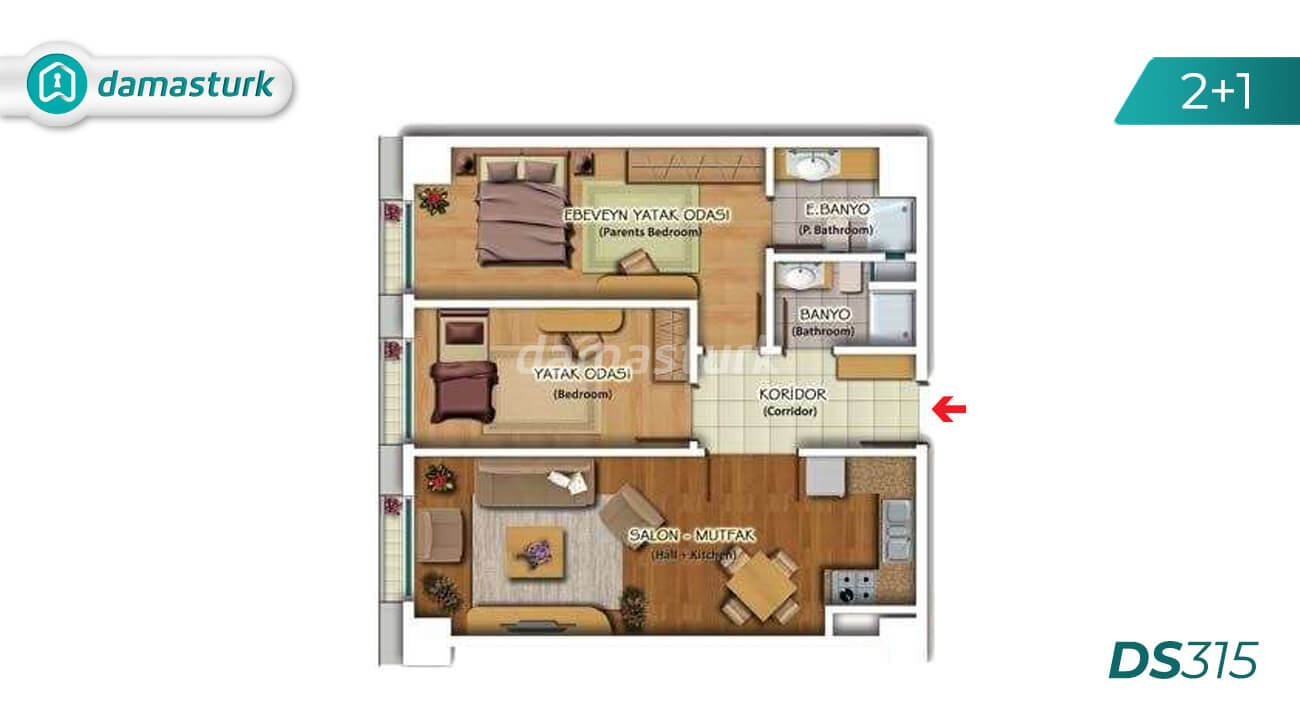 Hotel apartments for sale in Turkey - compound DS315 || damasturk Real Estate Company 03