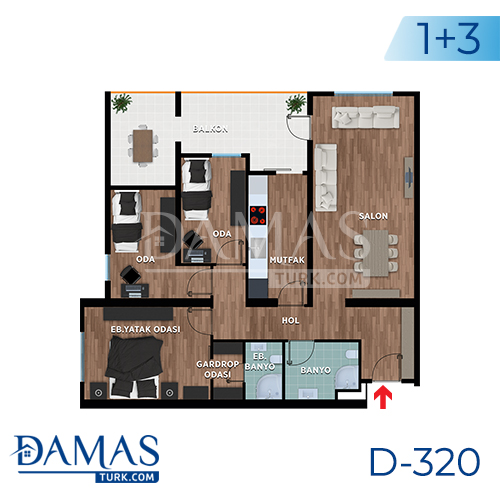 Damas Project D-319 in Bursa - Floor plan picture 03