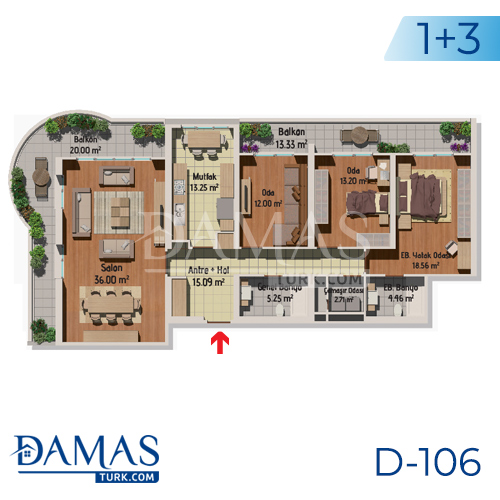 Damas Project D-106 in Istanbul - Floor plan picture 03