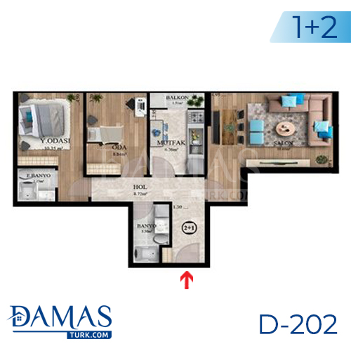 Damas Project D-202 in Istanbul - Floor plan picture  03