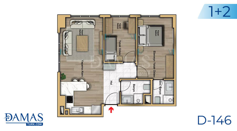 Damas Project D-146 in Istanbul - Floor plan picture 03