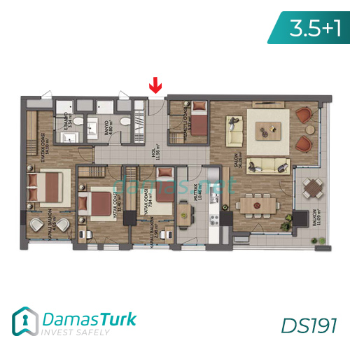Istanbul Property - Turkey Real Estate - DS191 || damas.net 04