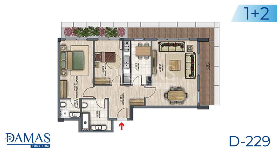 Damas Project D-229 in Istanbul - Floor plan picture  03