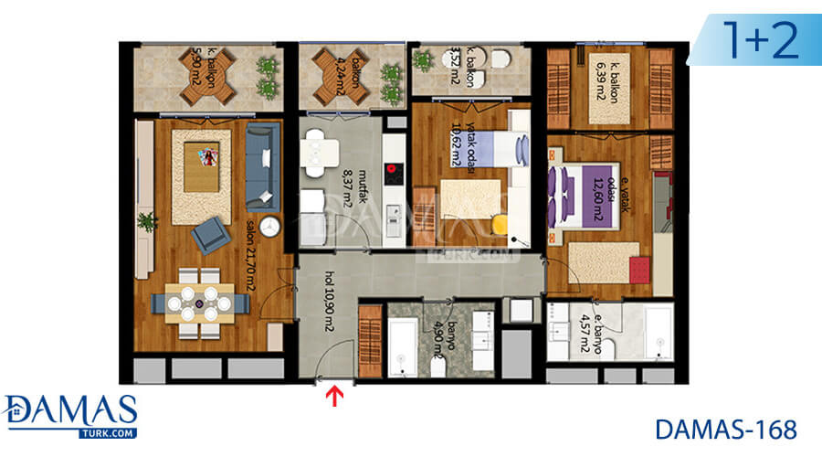 Damas Project D-168 in Istanbul - Floor plan picture  03