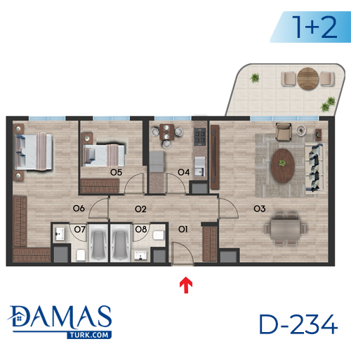 Damas Project D-234 in Istanbul - Floor plan picture  03