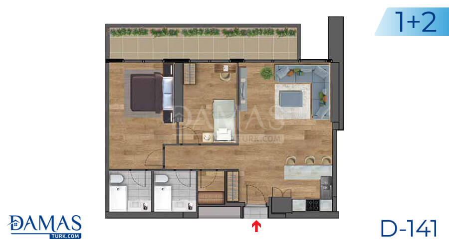 Damas Project D-141 in Istanbul - Floor plan picture 03