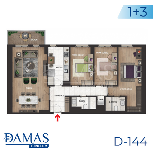 Damas Project D-144 in Istanbul - Floor plan picture 03